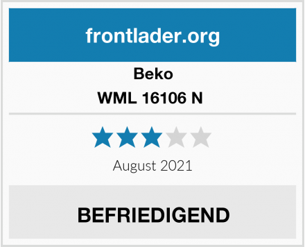 Beko WML 16106 N  Test