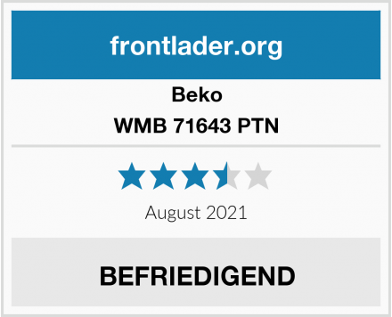 Beko WMB 71643 PTN Test