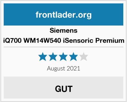 Siemens iQ700 WM14W540 iSensoric Premium Test