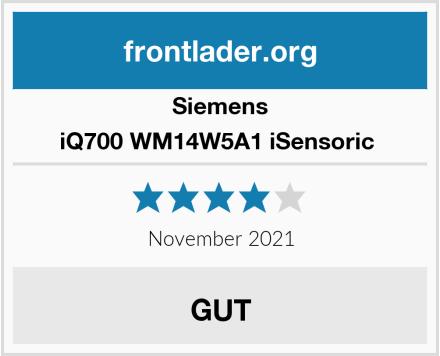 Siemens iQ700 WM14W5A1 iSensoric  Test