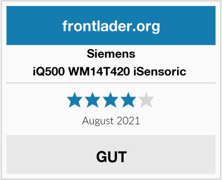 Siemens iQ500 WM14T420 iSensoric  Test